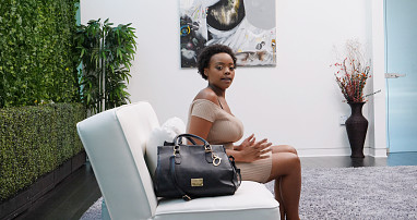 Busty Black Calendar Girl